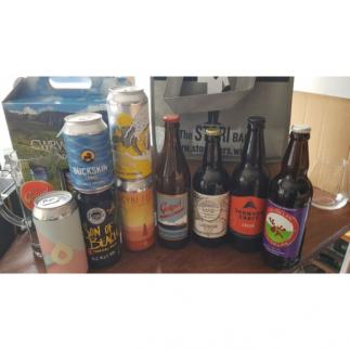 Welsh Craft Beer - Stori Bag with 9 Welsh Craft Beers.