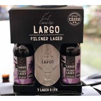 Cwrw Llyn Largo Gift Pack 2 Bottle plus Glass