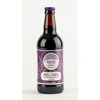 Hafod Moel Famau Heather Infused Dark Ale 4.1%  500ml bottle
