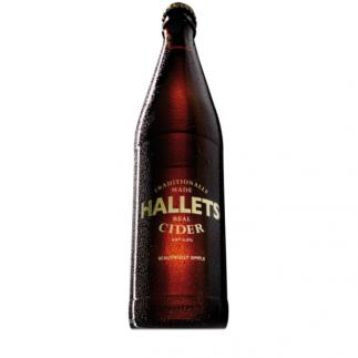 Hallets Real Cider 6% 500ml Bottle