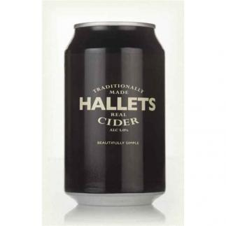 Hallets Real Cider 5% 330ml Can