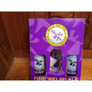 Purple Moose Gift Box 2 Bottles and Pint Glass