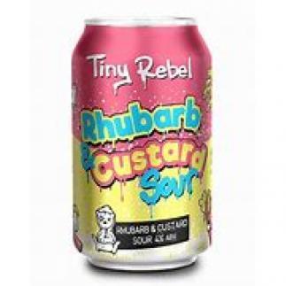 Tiny Rebel Rhubarb and Custard Sour 4% 330ml Can